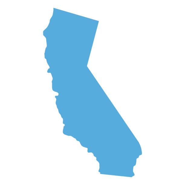 ilustraciones, imágenes clip art, dibujos animados e iconos de stock de mapa del estado de california - siluetas de mapas