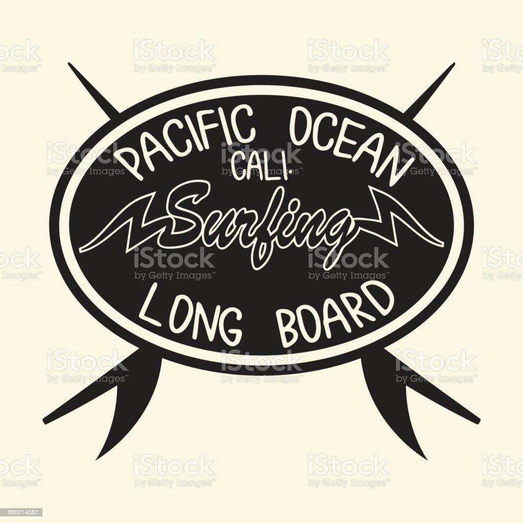 California Surf Typography Surfing Tshirt Graphic Design