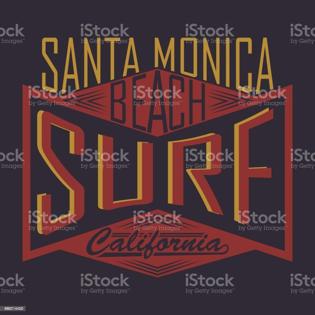 ee629850 California surf typography, t-shirt graphics, Abstract, Stock Vector  Illustration - Illustration .