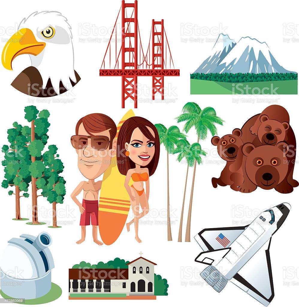 California Symbols royalty-free stock vector art
