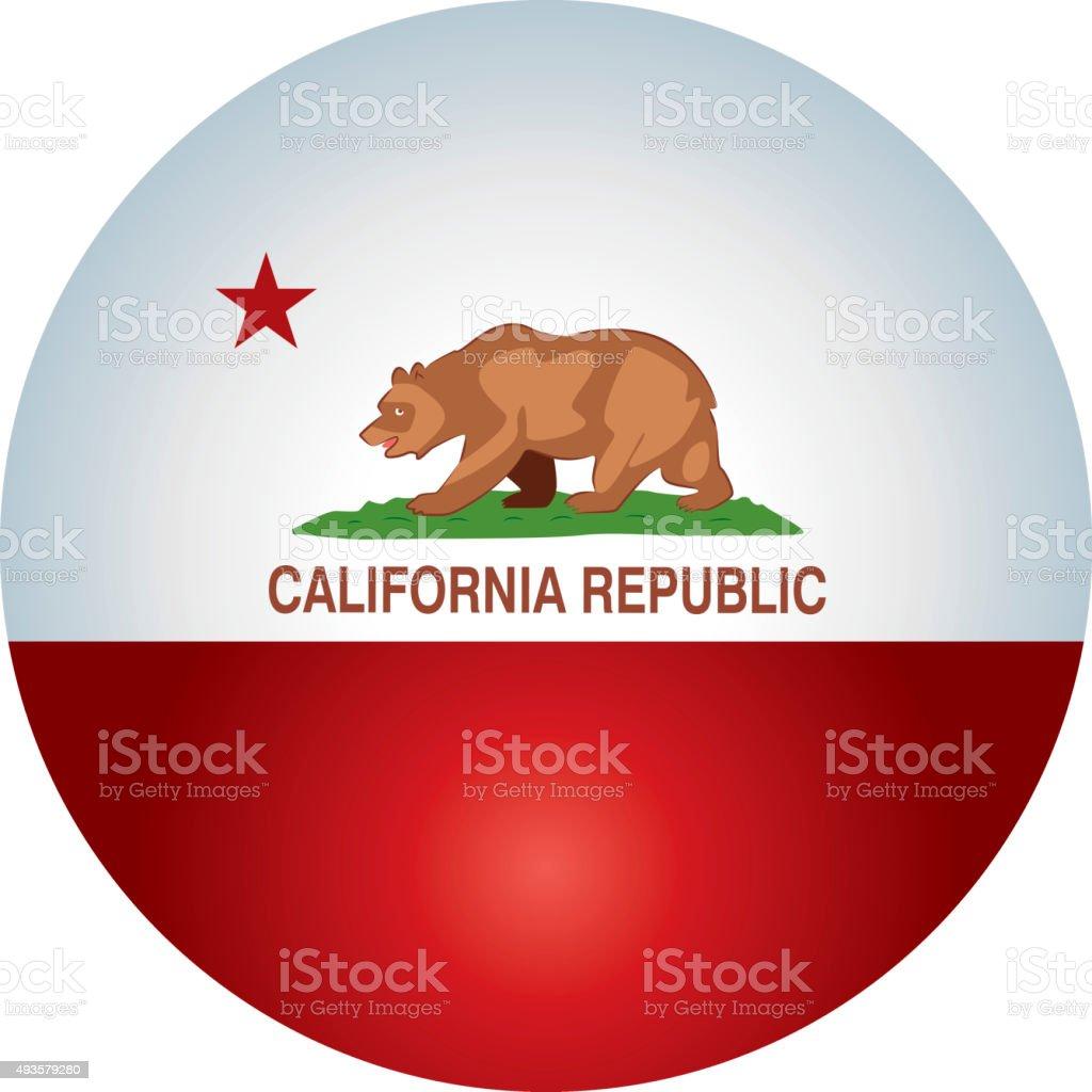 California Symbols vector art illustration