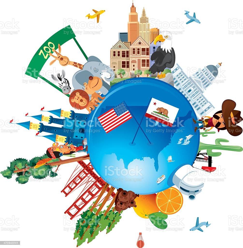 California Travel royalty-free california travel stock vector art & more images of american flag