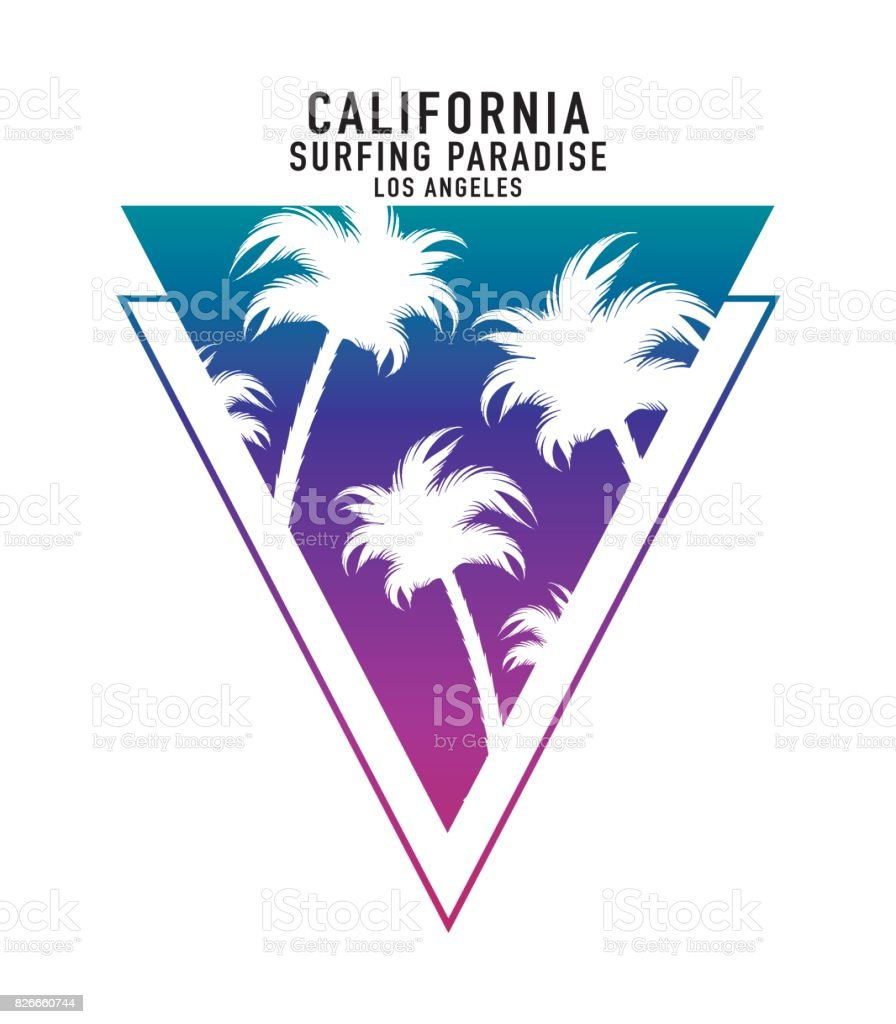 340aaf2b6aab California typography with palm trees summer vacations beach concept t-shirt  graphic vector print design