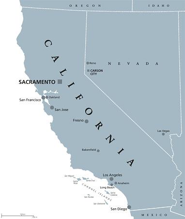 California United States political map