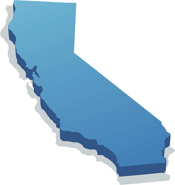 California illustration of California state map for your design and products. california map stock illustrations