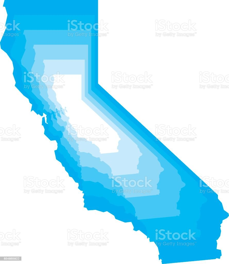 California Zoom vector art illustration