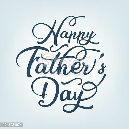 istock Caligraphic Fathers Day Icon 1248234674