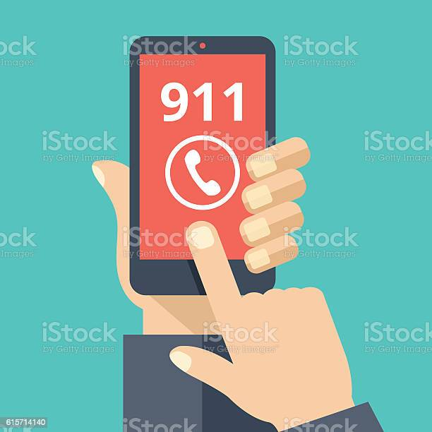 Call 911 emergency call hand holding smartphone touching call button vector id615714140?b=1&k=6&m=615714140&s=612x612&h=oqqmg6pid tecfmof  pc00 ttsr9c9k4hdbdevo52w=