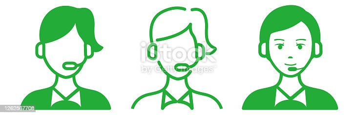 istock Call center agents flat icons 1262567708