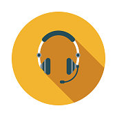 Call Center Flat Design Emergency Services Icon