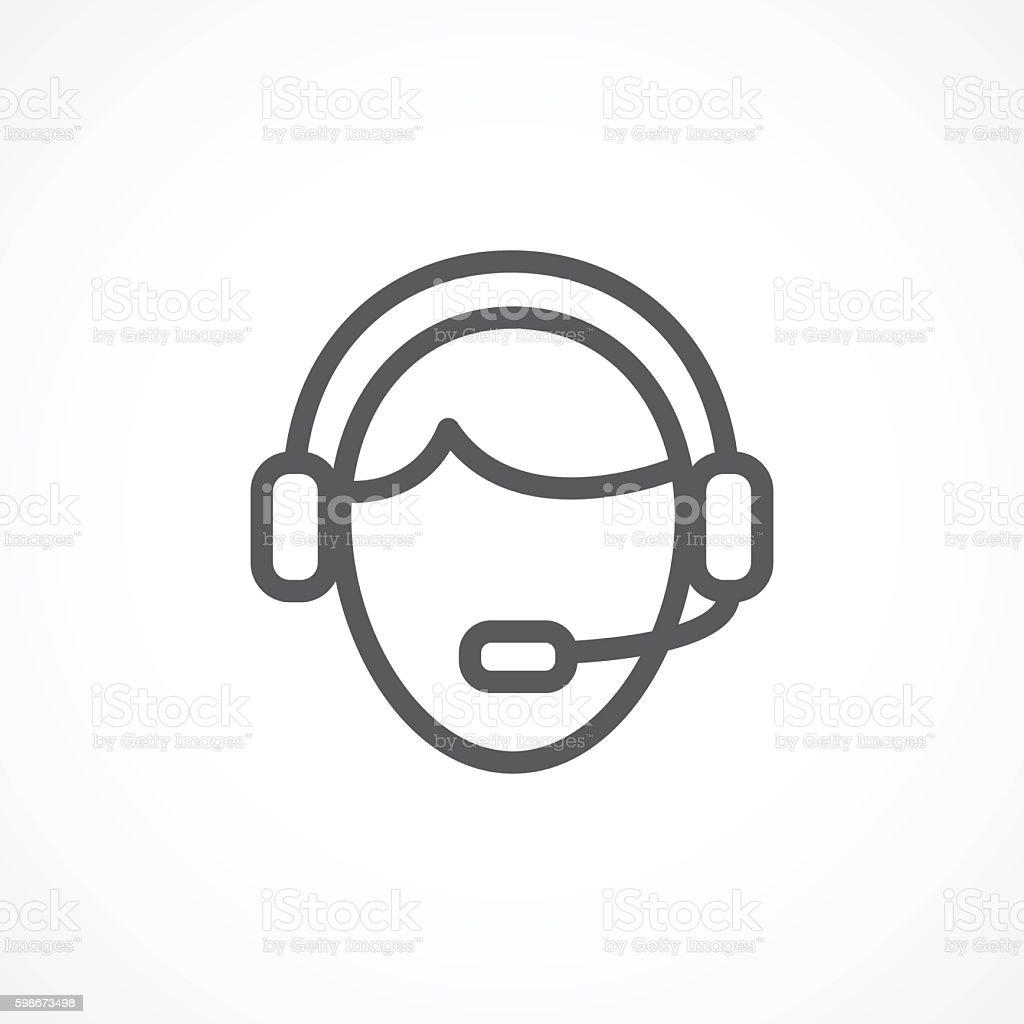 Centro de atención telefónica icono - ilustración de arte vectorial