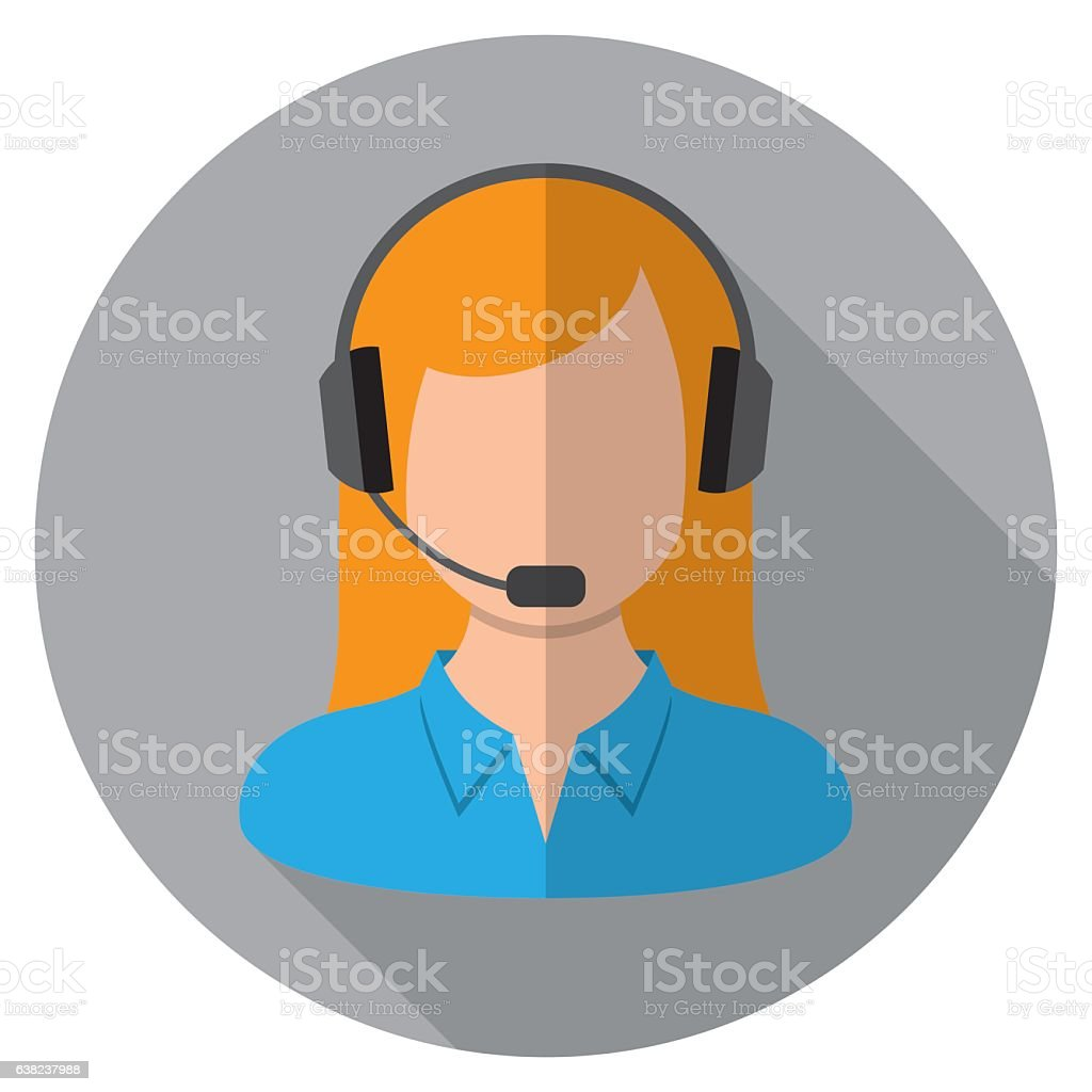 Call Center Icon vector art illustration