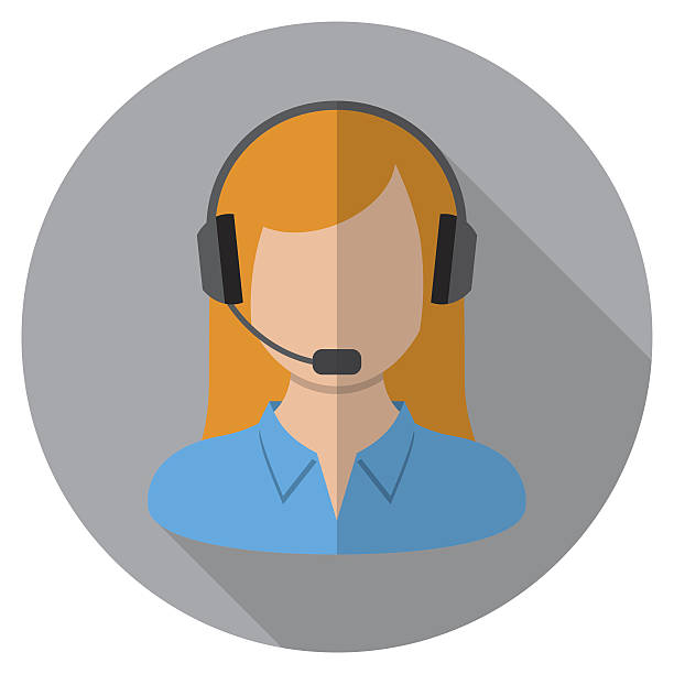 Call Center Icon Eps10 vector illustration with layers (removeable). Pdf, Png and high resolution jpeg file included (300dpi). hands free device stock illustrations