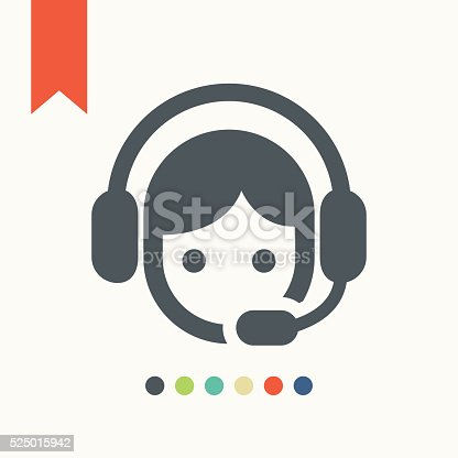 Call center operator icon,vector illustration.