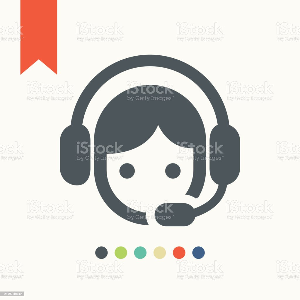 Operador de centro de llamadas icono - ilustración de arte vectorial
