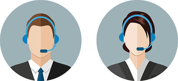 call center operator icons - call center stock illustrations, clip art, cartoons, & icons