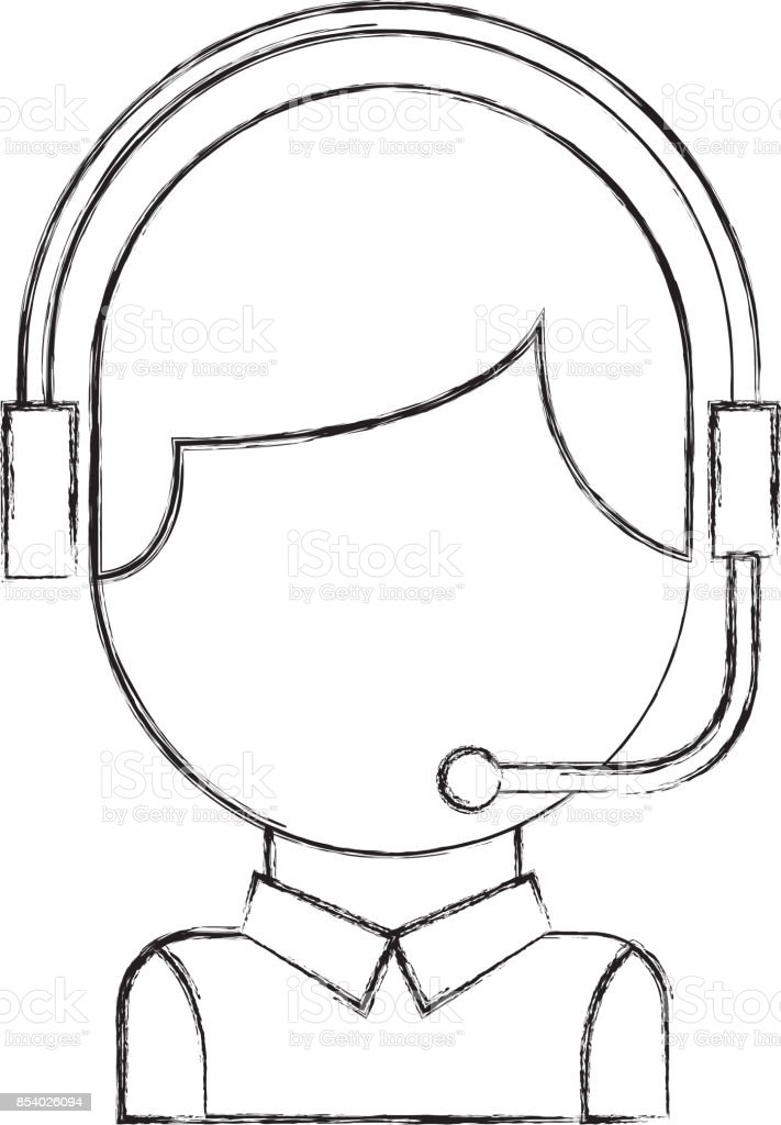 Call Center Operator With Phone Headset Stock Illustration Download Image Now Istock