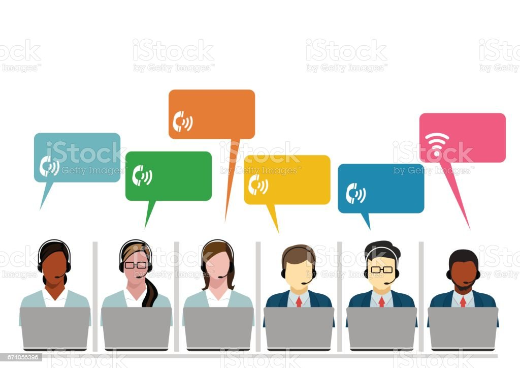 Call Center Operators Team, Man Woman Customer Support People Group Chat Bubble Internet Communication Thin Line Illustration royalty-free call center operators team man woman customer support people group chat bubble internet communication thin line illustration stock vector art & more images of adult