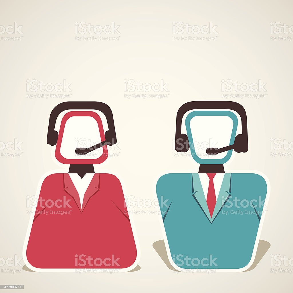call center people royalty-free stock vector art