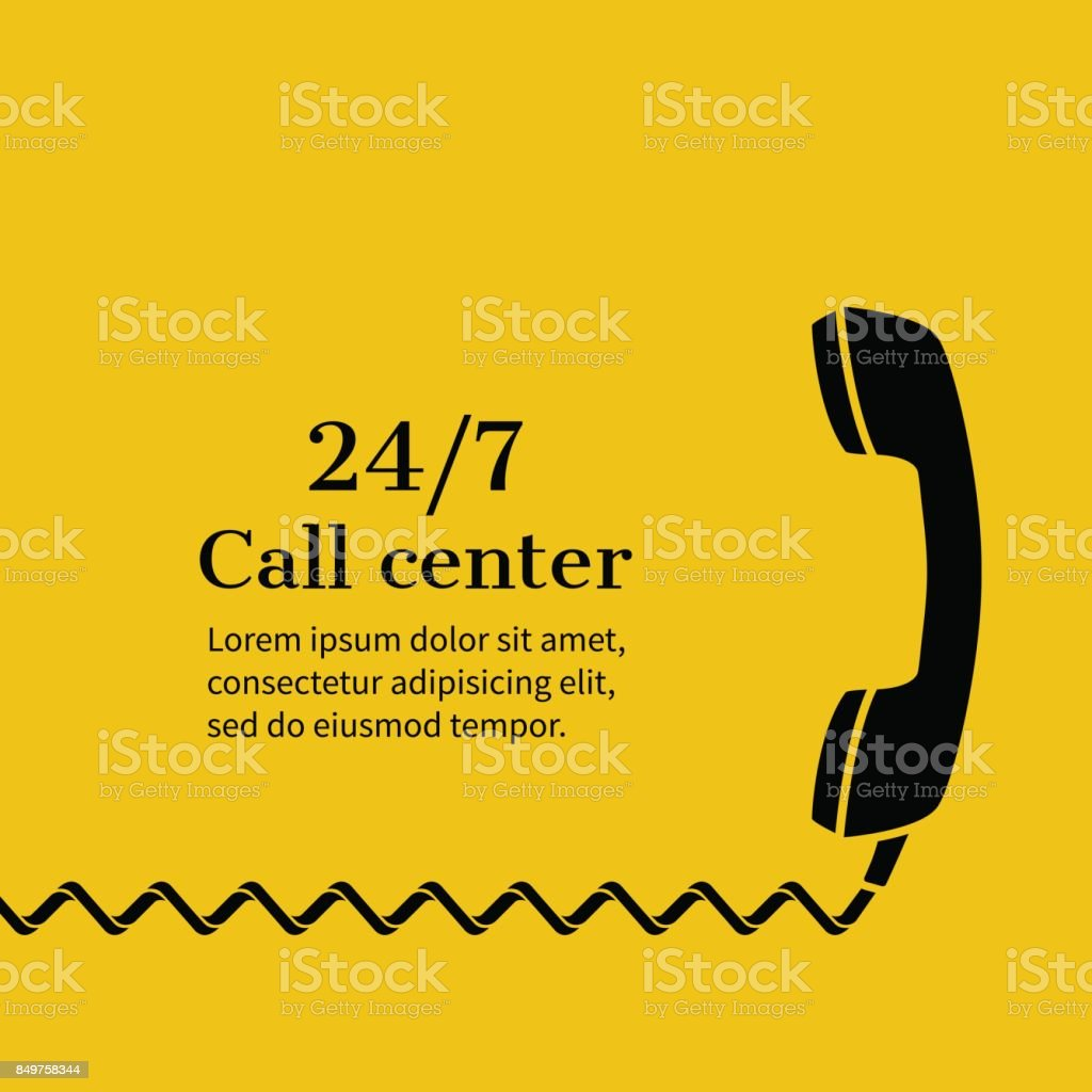 Call center,  support vector art illustration