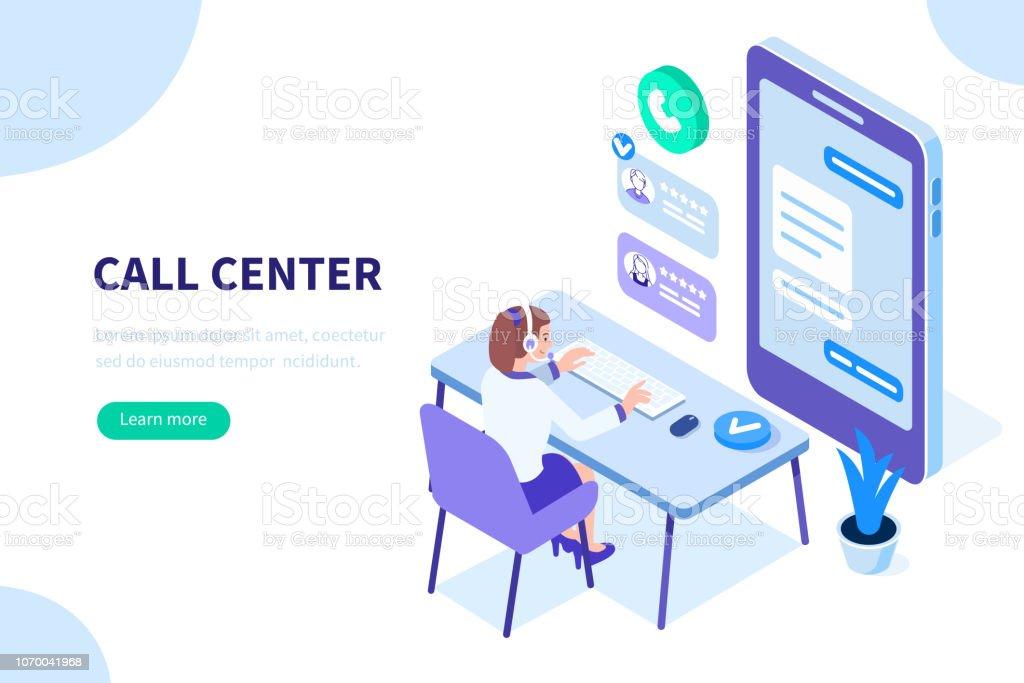 Centro de llamadas ilustración de centro de llamadas y más vectores libres de derechos de adulto libre de derechos