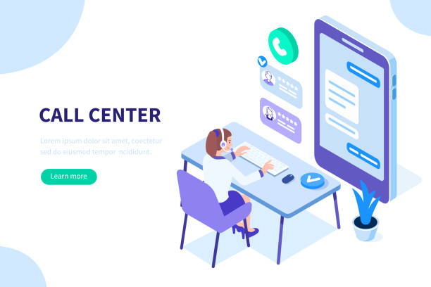 call center - помощь stock illustrations