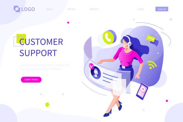 call center - obsługa stock illustrations