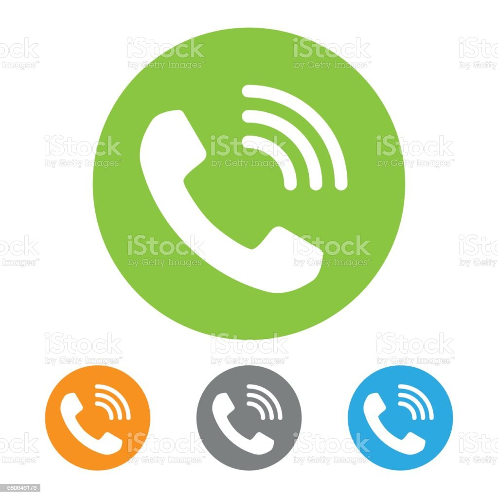 Call icon vector art illustration