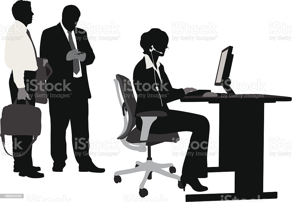 Call Managers Vector Silhouette vector art illustration