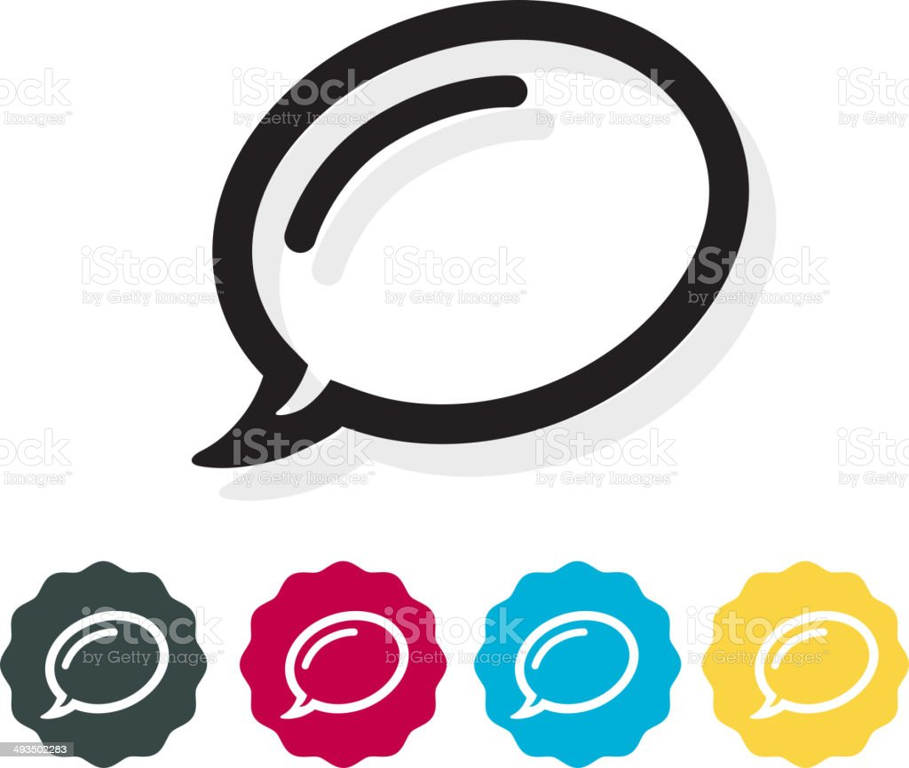 Call Out Icon royalty-free stock vector art