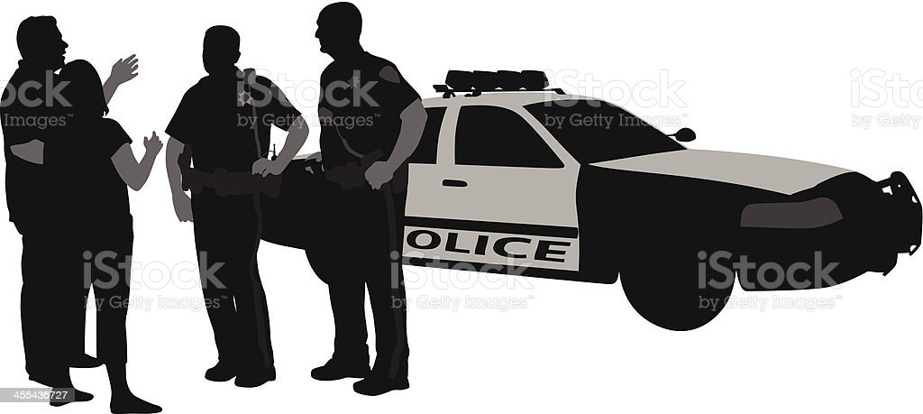 Call Police! Vector Silhouette vector art illustration