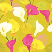 Calla Lily Pattern (Olive Green)