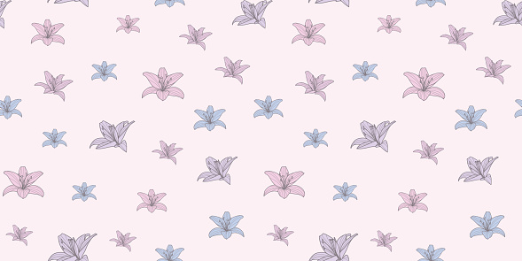 Calla lily repeat vector pattern, floral  background