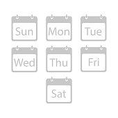 Callendar illustration day of the week vector