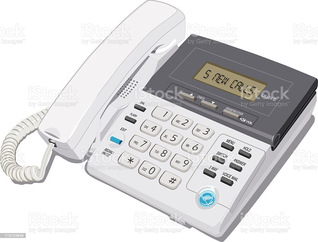 Caller ID Phone (Vector) royalty-free stock vector art