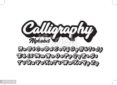 istock Calligraphic alphabet 832093208