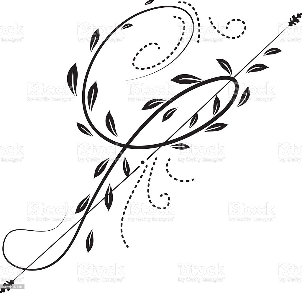 calligraphic black leaf ornament stock illustration download image now istock 2
