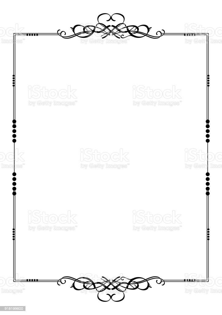 Ilustración de Elemento De Diseño Caligráfico Frontera Divisorio ...