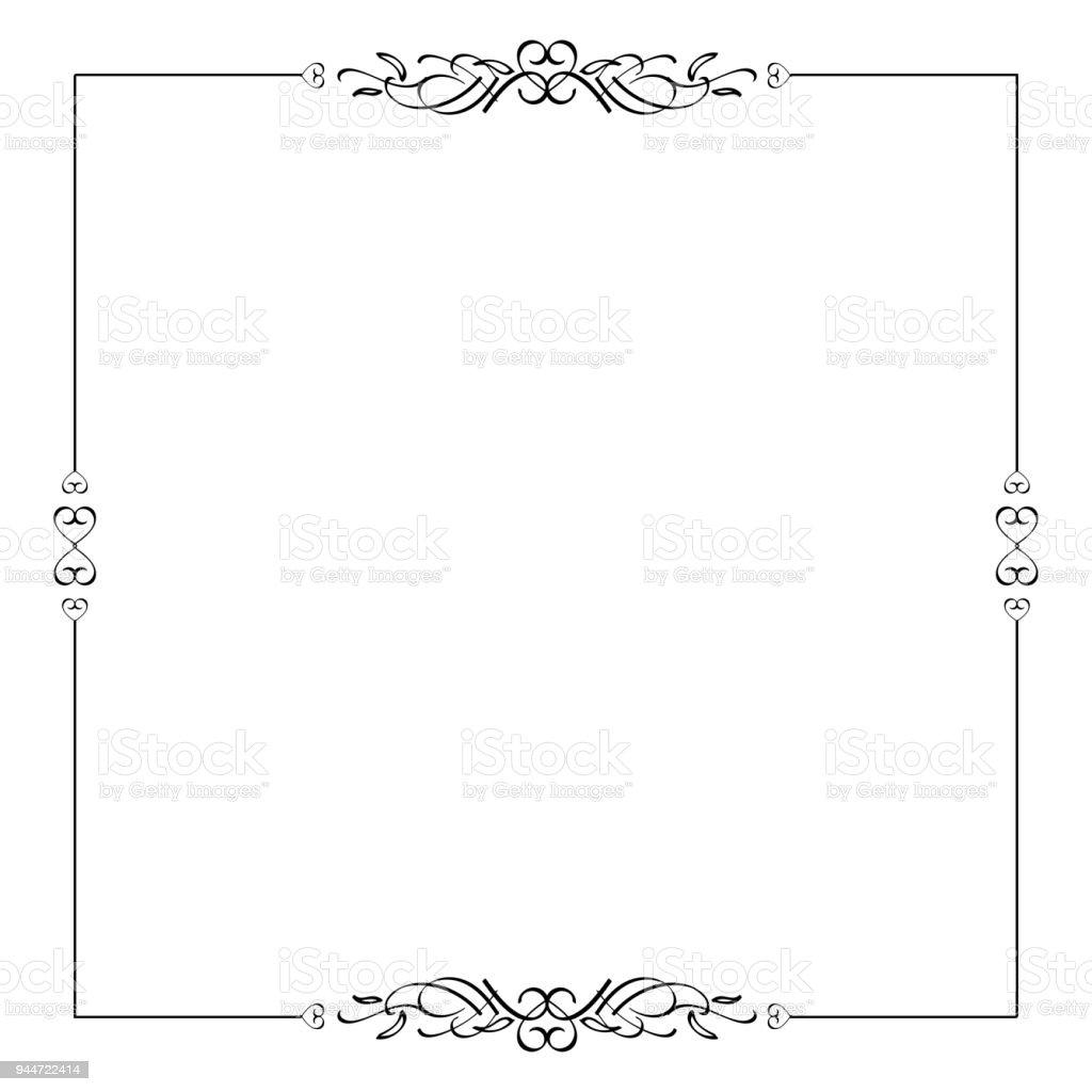 Kalligraphische Rahmen Teiler Designelement Im Stil Der Klassischen ...