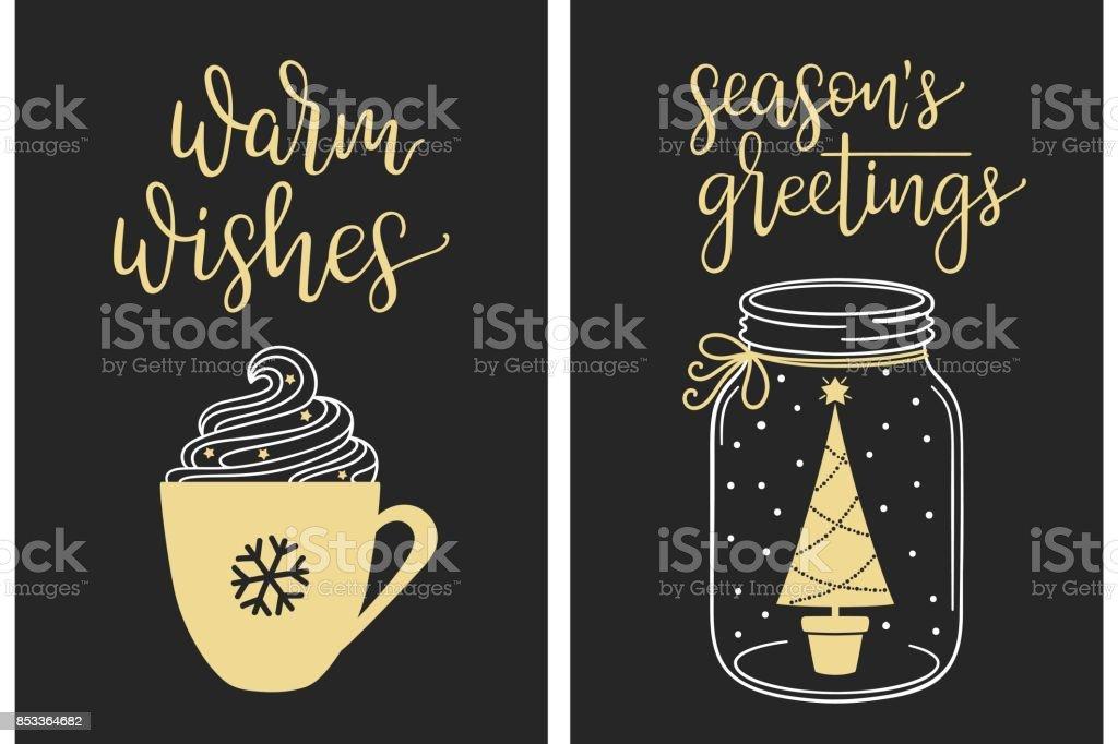 Calligraphic Christmas greetings