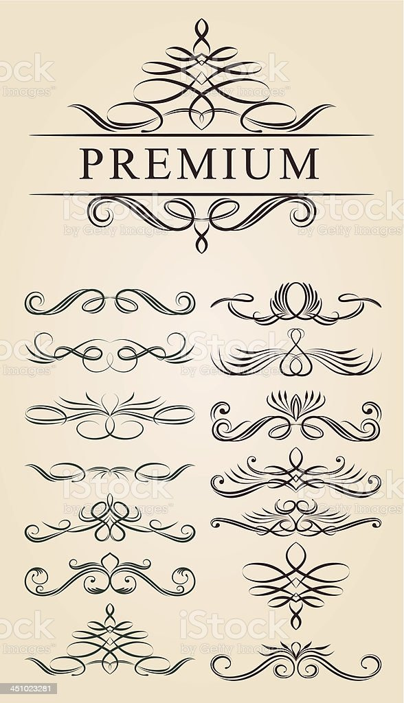 Calligraphic Decoration Design vector art illustration