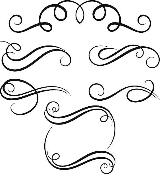 Royalty free decorative lines clip art vector images calligraphic decorative elements vector art illustration altavistaventures Choice Image