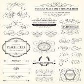 Set of 28 calligraphic design elements.