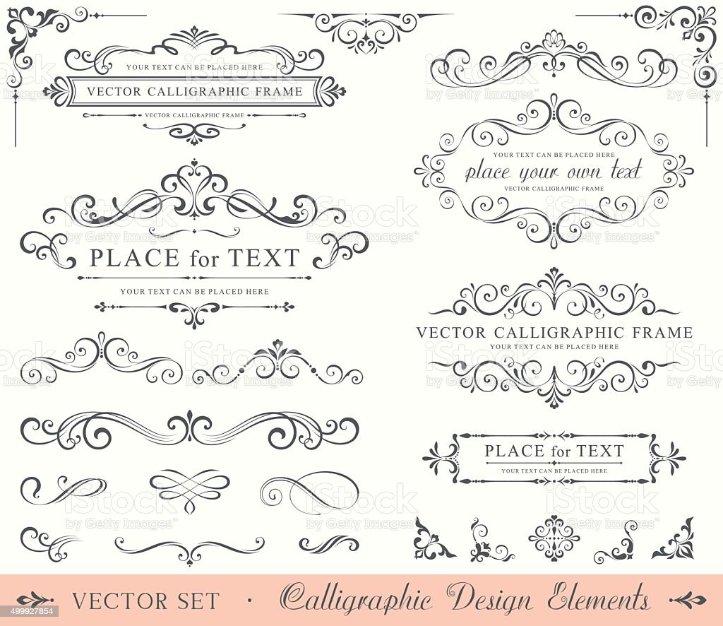 Calligraphic Design Elements vector art illustration