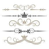 Calligraphic Design Elements, vintage