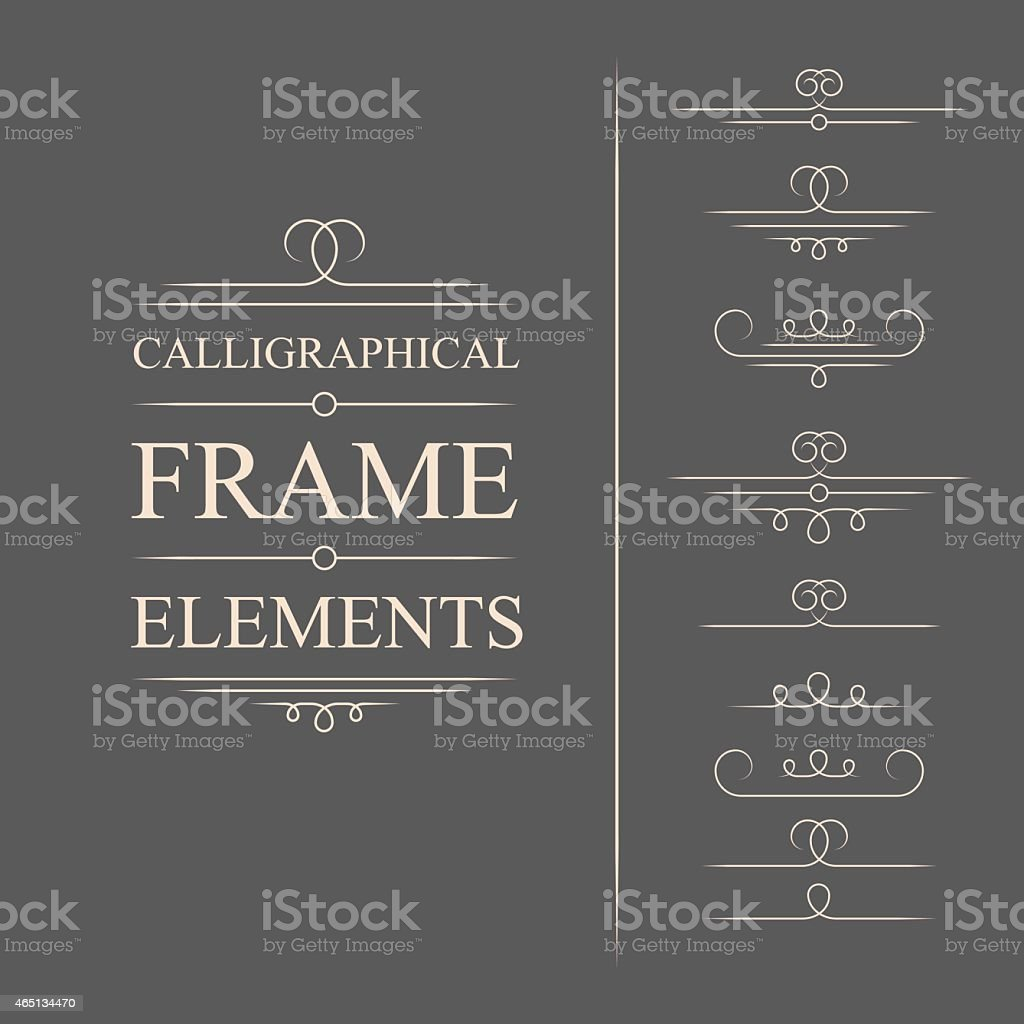 Calligraphic design vector art vector art illustration
