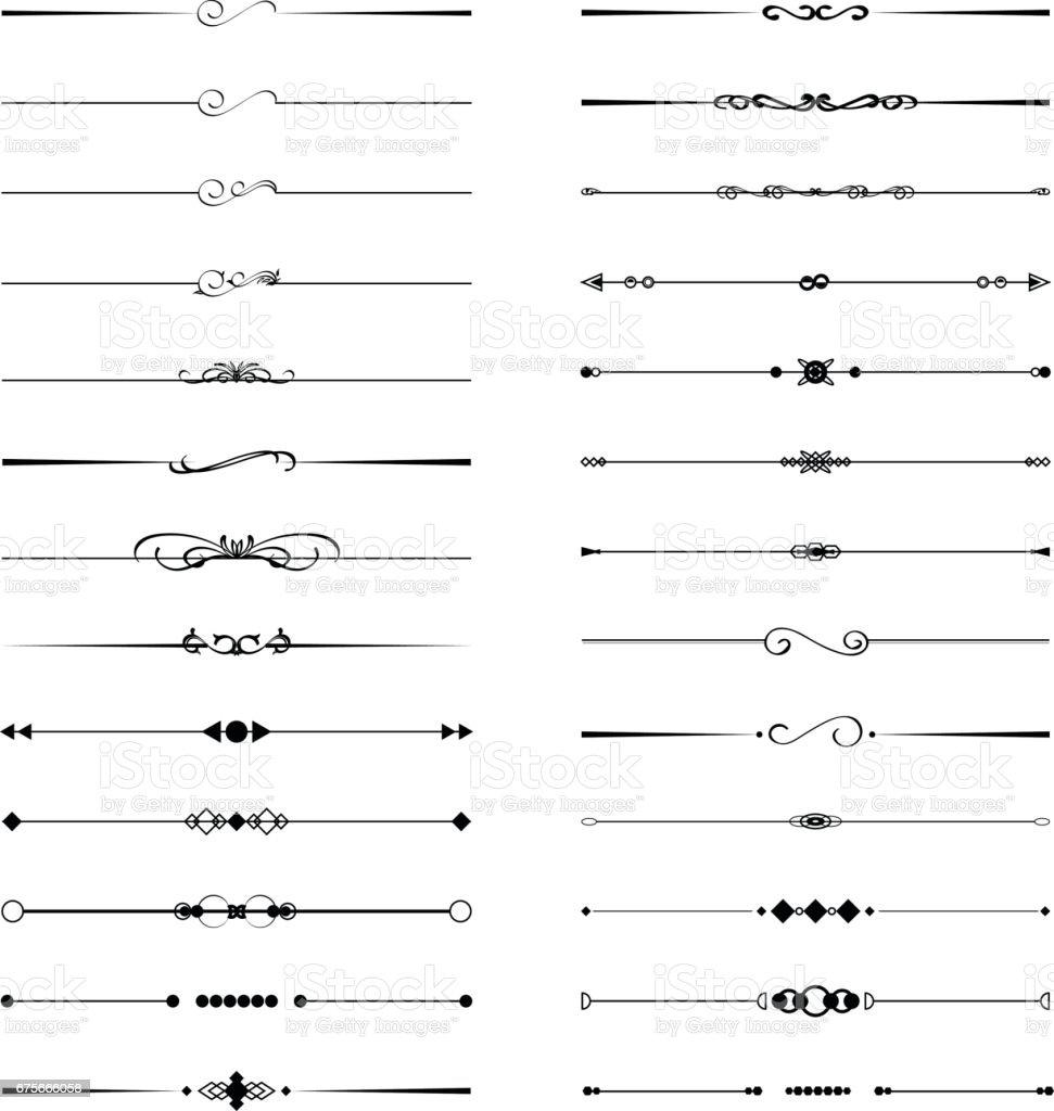 Calligraphic divider geometric design element set royalty-free calligraphic divider geometric design element set stock vector art & more images of black border