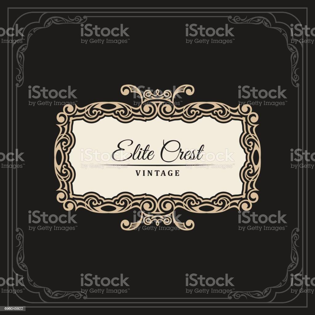 Líneas De Caligrafía Elegante Ornamento De Marcos Menú Del ...