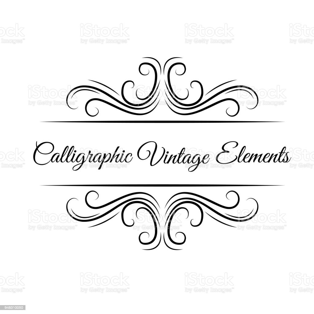 Christmas Save The Date Clipart.Calligraphic Elements Ornament Swirls Filigree Elements