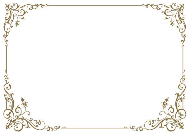 ilustraciones, imágenes clip art, dibujos animados e iconos de stock de marco caligráfico y decoración de la página. ilustración vectorial - ornamentado